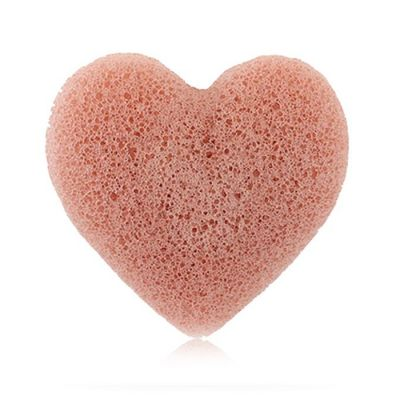 FRENCH PINK CLAY HEART SPONGE